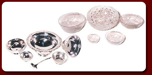 Silver, Stainless and Cut Glass Bowls and Accessories to Enhance Any Table